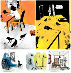 RAAF - graphic novel - Schetsen en 2 losse pagina's