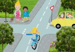 Deze digitale illustratie is gemaakt in Photoshop als pitch voor Veilig Verkeer Nederland