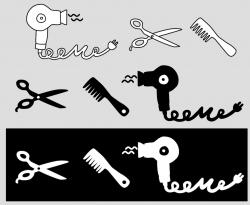 illustraties voor een kapper