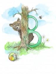 Letter B van het alfabet