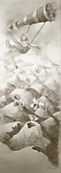 potlood op papier, 35 x 100 cm