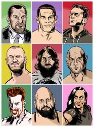 Portraits Pro-Wrestlers