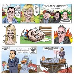 Boer zoekt vrouw Rutte Sesamstraat Linda de Mol Youp van t Hek Andries Knevel Karikaturen
