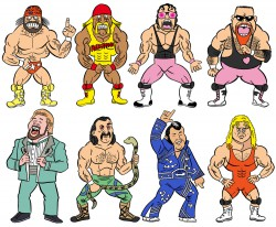 pro-wrestlers cartoon