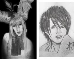 2 potlood tekeningen