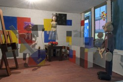 Bij Piet in het atelier