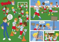 Voetbal cartoon
