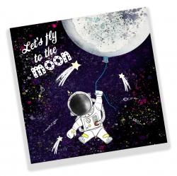 Astronaut, ruimte, raket, maan,