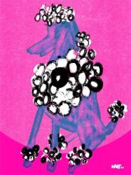 dog hond koningspoedel - conceptual illustration - illustratie - dutch illustrator Carmen Nutbey