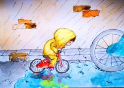 kinderboekenillustratie - aquarel en inkt