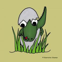 Dinosaurus uit ei