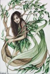 Waterverf schilderij