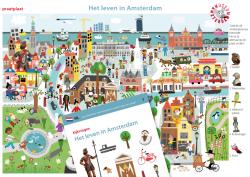 illustrator, illustrator kinderboeken, praatplaat, zoekplaat, kijkplaat, Amsterdam museum,  Amsterdam, illustratie stad,  illustratie gebouwen, gebouwen
