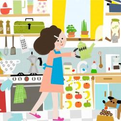 eten, keuken, illustrator, koken, recepten, educatief,