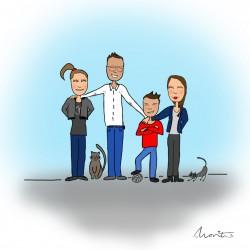Illustratie gezin by Marit van Buchem