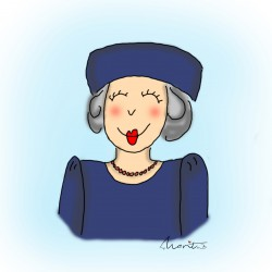 Illustratie koninklijke hoogheid prinses Beatrix