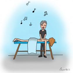 Illustratie massage by Marit van Buchem