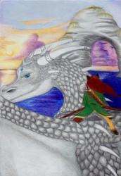 Illustratie voor tekst fantasy spel (Dragon Riders)