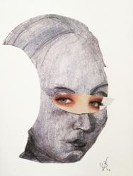 portret dmv collage-techniek