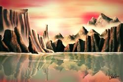 bergen, meer, japan, natuur