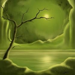 moeras, meer, boom, natuur
