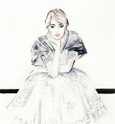 Chanel Couture - mode illustratie