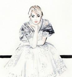 Chanel Couture - mode illustratie