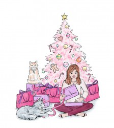 mode illustratie kerst Atelier d'Ayama